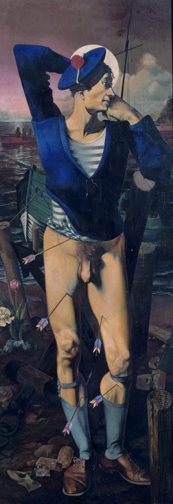 drôles de zébrures ; autour des rayures ! - Page 2 Nude-men-leopold-museum-8-352x1024