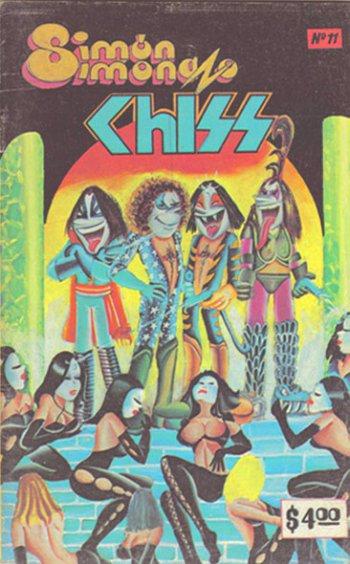 Kiss, los roqueros pintarrajeados que sacaban la lengua 2012012701053011