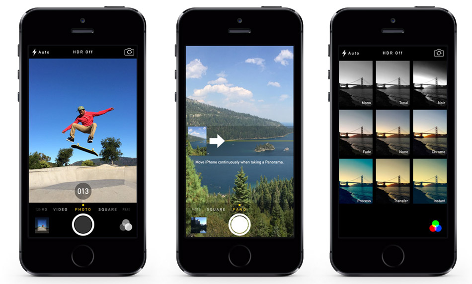 سعر ومواصفات ابل ايفون 5S - سعة 16 جيجابايت, الجيل الرابع LTE, رمادى Isight_camera_black