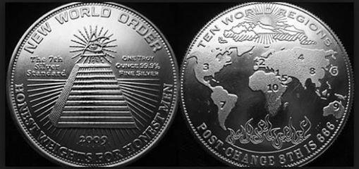 EL MISTERIO DE LOS GIGANTES /Conexiones Anunnakis /Dioses Sumerios Nuevo-Orden-Mundial-Monedas