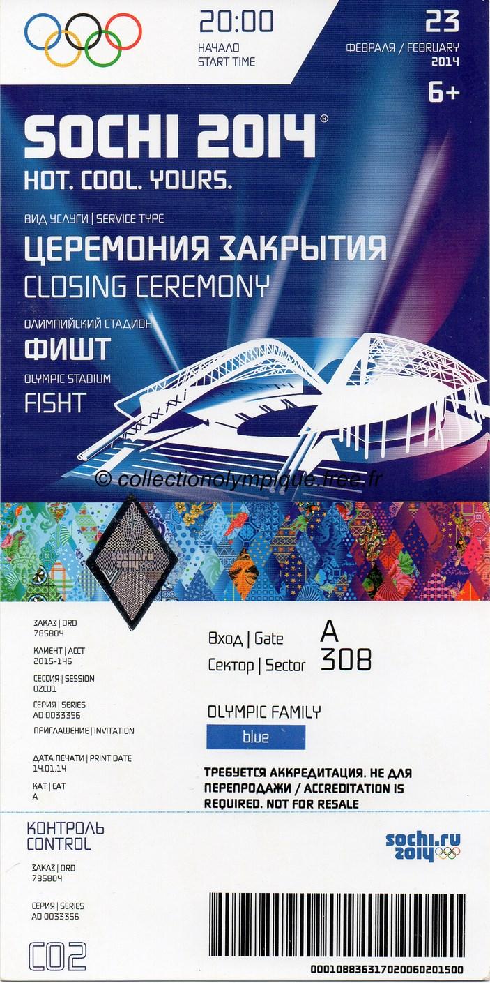 MEMORABILIA SOCHI 2014 2014_sochi_olympic_ticket_closing_ceremony