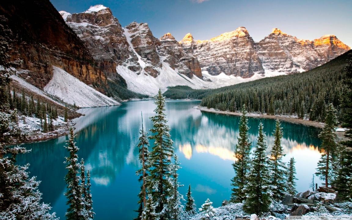 Jezero koje ostavlja bez daha: kanadsko jezero Morein Winter_moraine_lake_alberta_canada-wallpaper-1152x720