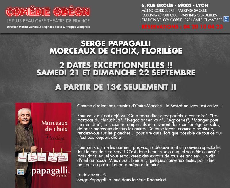 Café théâtre : Papagalli en solo au Comédie Odéon 1