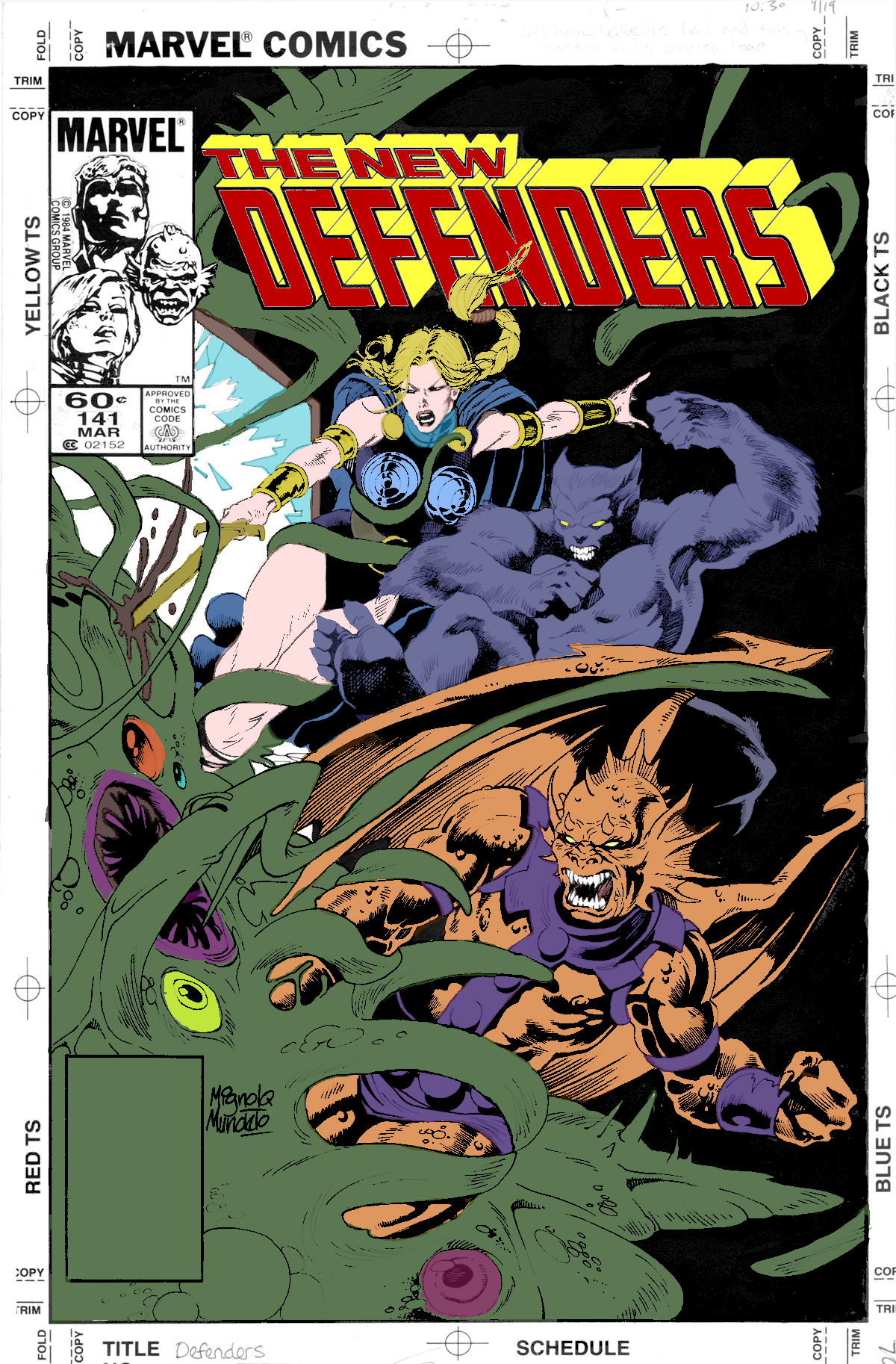 Digitally coloring B&W Images. Defenders141