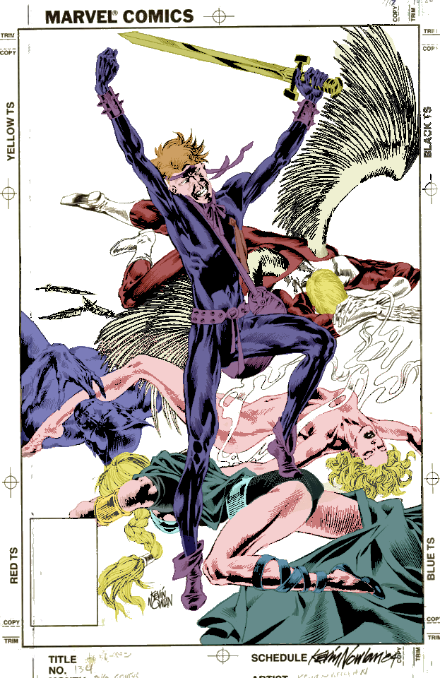 Digitally coloring B&W Images. Defenders_134_Recolor