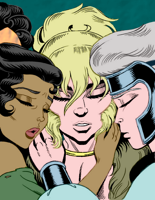 Digitally coloring B&W Images. EQ_Coloring