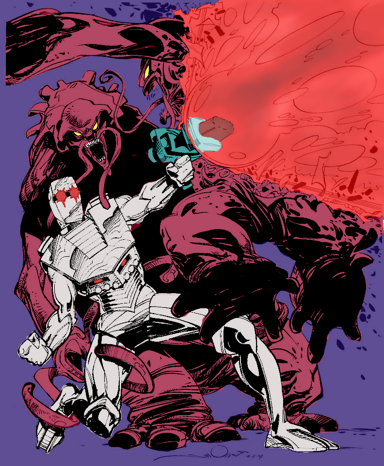Digitally coloring B&W Images. ROM_Colored