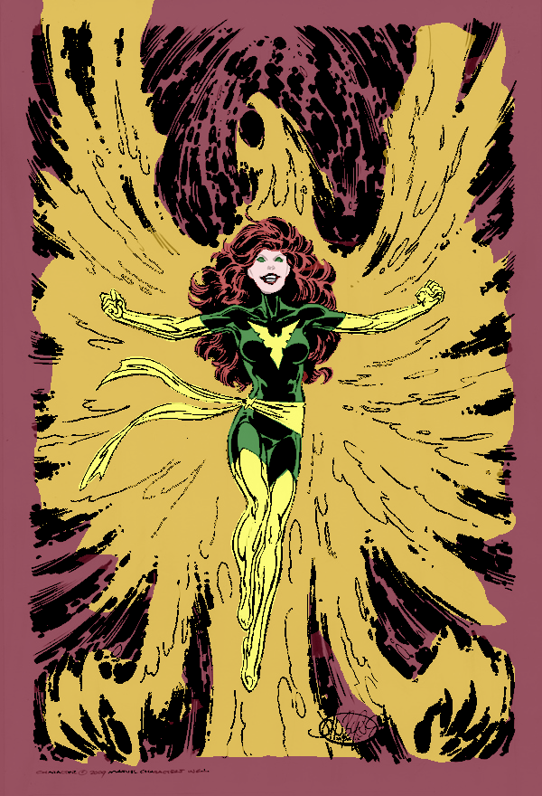 3 - Digitally coloring B&W Images. Deathof_MarvelGirl