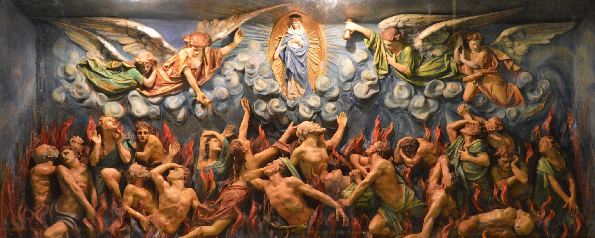 L'Église Orthodoxe ne croit pas au purgatoire ! BVM-and-Purgatory