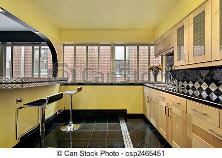 harmoniser murs jaune avec sol gris  Can-stock-photo_csp2465451