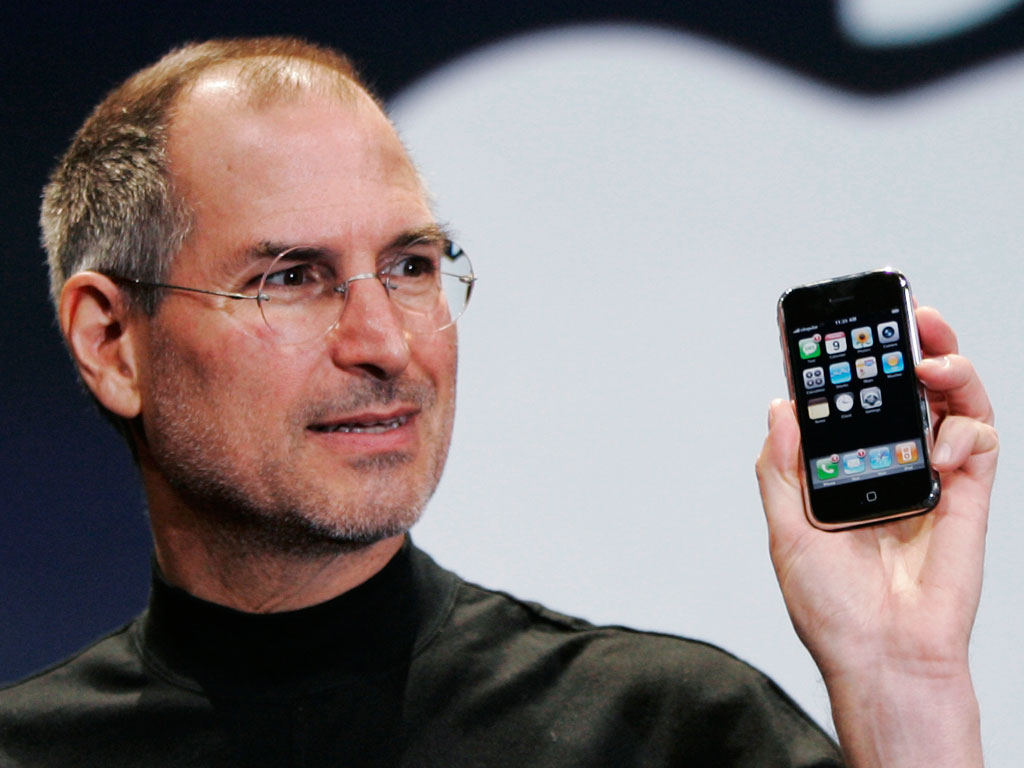 Into the hands of 'Apple' co-founder Steve Jobs (1955-2011) Iphone