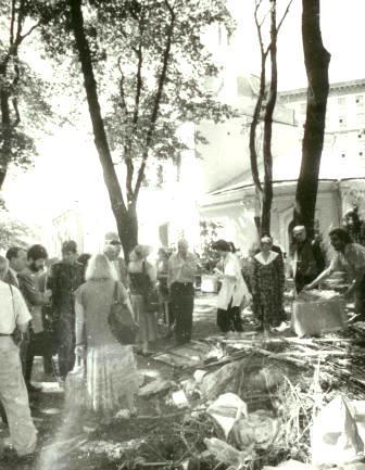 Храм Всех Святых Патриаршего Подворья во Всехсвятском на Соколе хотят захватить агенты влияния Саакашвили и разрушить строители-гастарбайтеры. I-1032