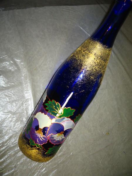 Роспись бутылки.Мастер-класс. I-897