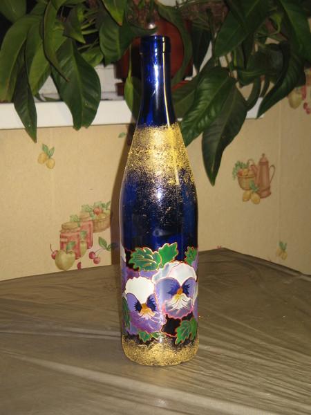 Роспись бутылки.Мастер-класс. I-898