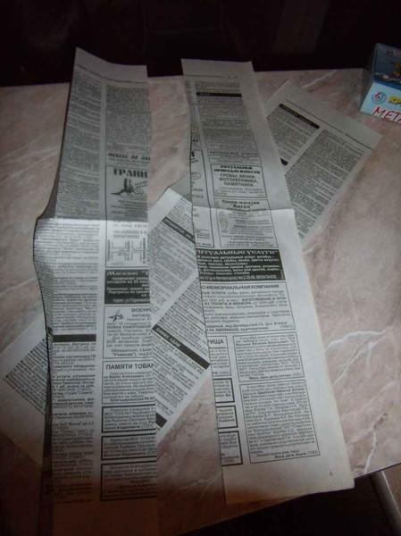 Салфетница из старых газет I-2189