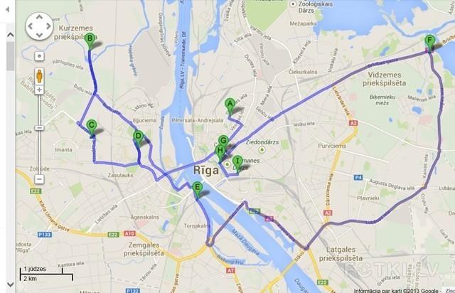 Izstāžu un tematiski organizētu pasākumu apmeklējumi Karte