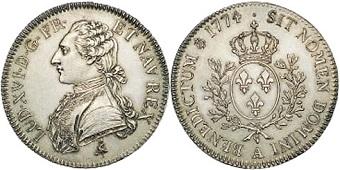 Un convertisseur de monnaies Ecu-louis-xvi-1774-au-buste-habille