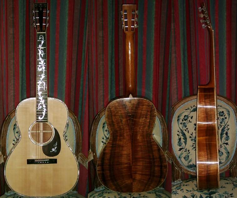 Les guitares d'un luthier aussi amateur que passionné ... 000-12K_5