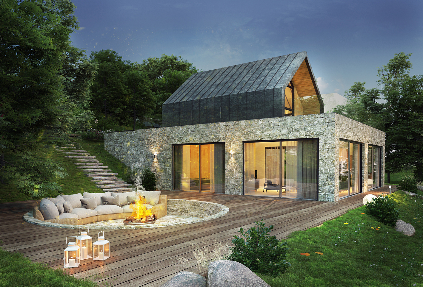 kuće koje nam se sviđaju.. - Page 5 Forest-house-modern-hills-architecture-beautiful-nature
