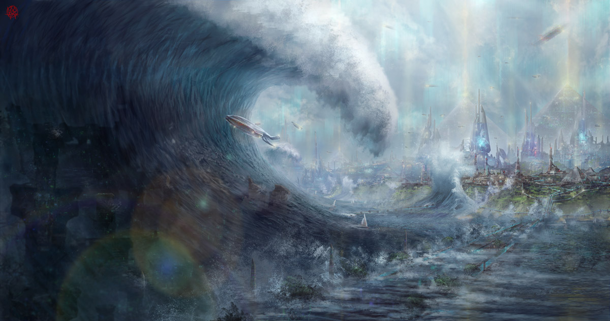 HUGE Changes Coming To Planet Earth – from Cosmic Convergence Atlantis-sinking1