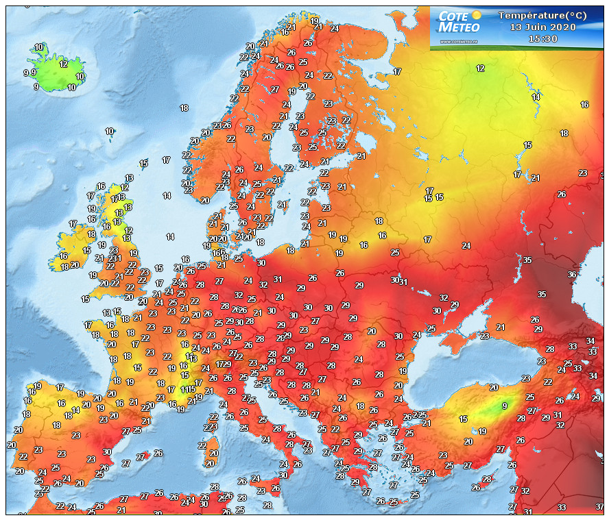 Temperature in tempo reale Italia Temperature_europe