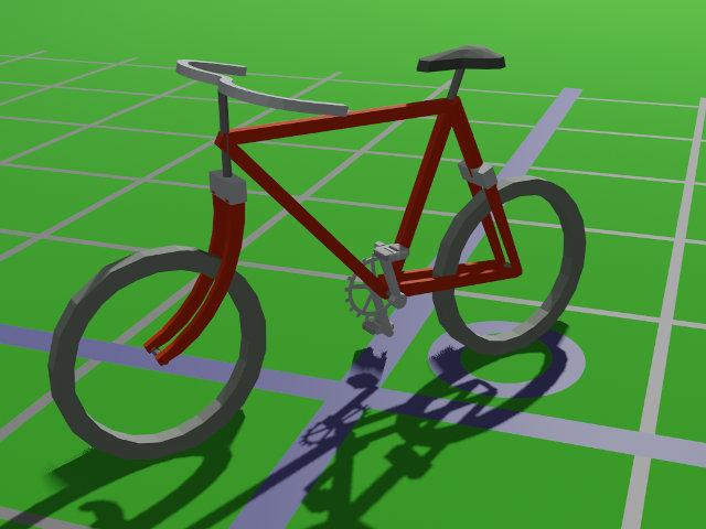 La 3D informatisée, avec Blender et sans - Page 3 Bicyclette_blender
