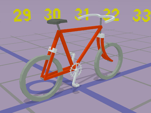 La 3D informatisée, avec Blender et sans - Page 3 Bicyclette_povray