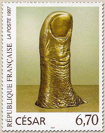 César (sculpteur) Pouce-timbre