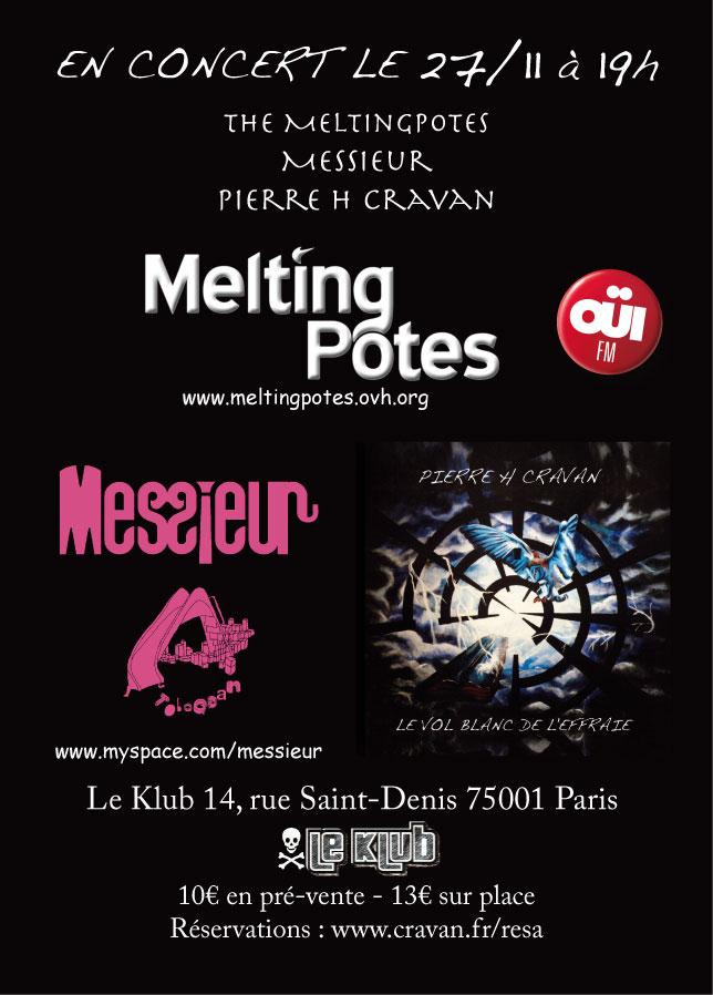 L'Animal Bluesymental et Uther en concert le 27 Novembre au Klub - Paris Affiche%2027%2011%202011