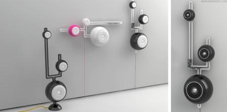360 ° loa bởi Pieter Maes Moveable-speakers-450x222