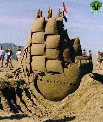 منحوتات رملية Cool-ship-sand-sculpture