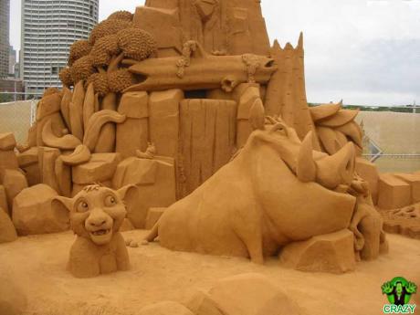 منحوتات رملية Disney-theme-sand-sculpture