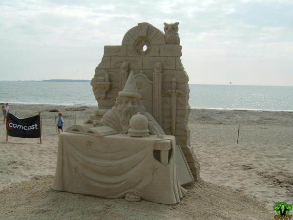 منحوتات رملية Sand-sculpture-justin