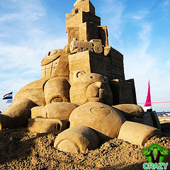 منحوتات رملية Toy-castel-sand-sculpture