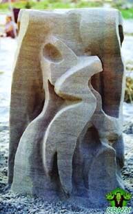 منحوتات رملية Wired-sand-sculpture