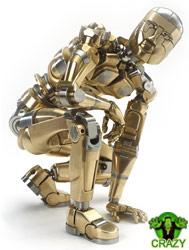تماثيل ومنحوتات غريبة Mech-sculpture