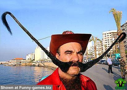 وجوه غريبة ومضحكة Big-moustache