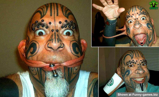وجوه غريبة ومضحكة Funny-pierced