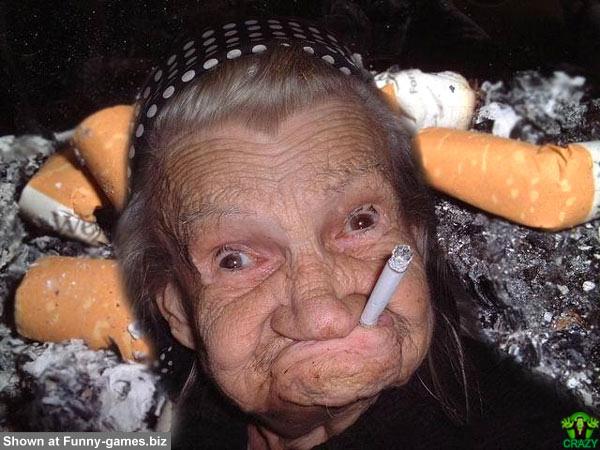 وجوه غريبة ومضحكة Old-smoker