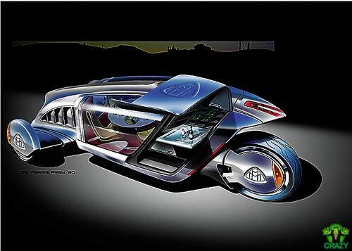 أغرب السيارات Futuristic-motor