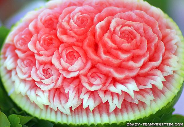 فنانين البطيخ Watermelon-bouquet-decoration