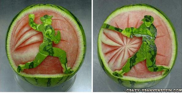 فنانين البطيخ Watermelon-baseball-decoration