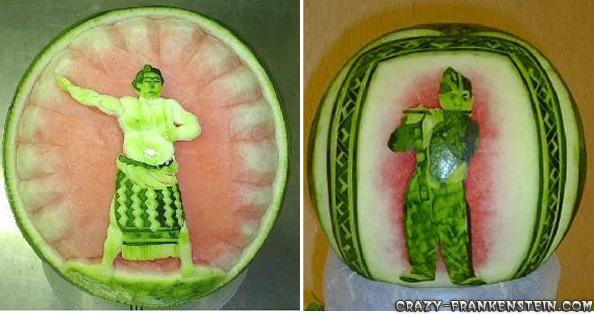 فنانين البطيخ Watermelon-chinesse-decoration