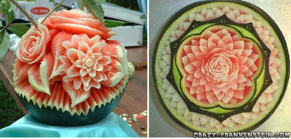فنانين البطيخ Watermelon-flower-decoration
