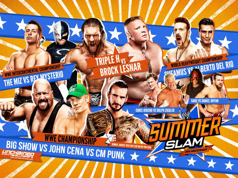 WWE Highlights Wwesummerslam2012wallpaper_800