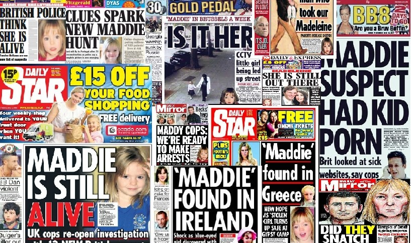 Media Mayhem - MCCANN MEDIA NONSENSE OF THE DAY - Page 11 Maddie-Headlines-819x484