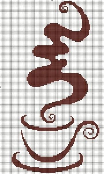 Кофейные мотивы - схемы для вышивки Xi8MRjbOZ-M