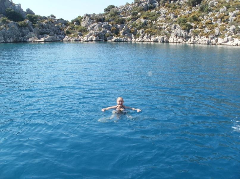 Мои путешествия. Елена Руденко. Турция. Средиземное море. Экскурсия на яхте.  2011 г.  Y_585559c2