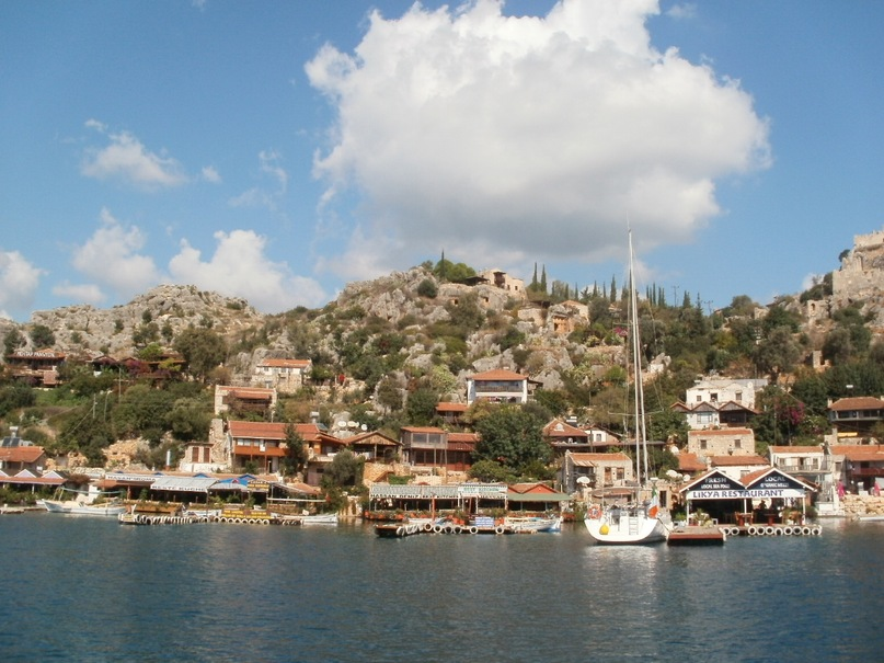 Мои путешествия. Елена Руденко. Турция. Средиземное море. Экскурсия на яхте.  2011 г.  Y_8d1243cf