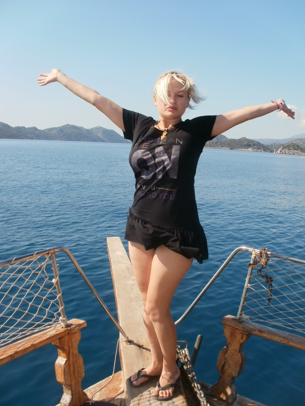 Мои путешествия. Елена Руденко. Турция. Средиземное море. Экскурсия на яхте.  2011 г.  Y_d179db08